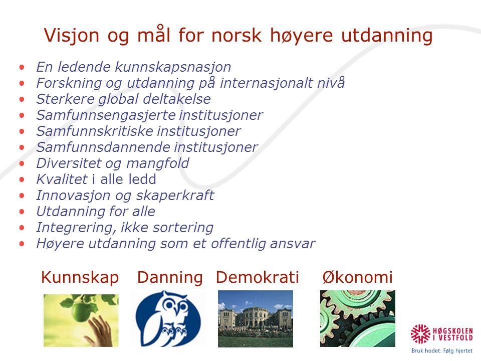 Visjon og mål for norsk høyere utdanning