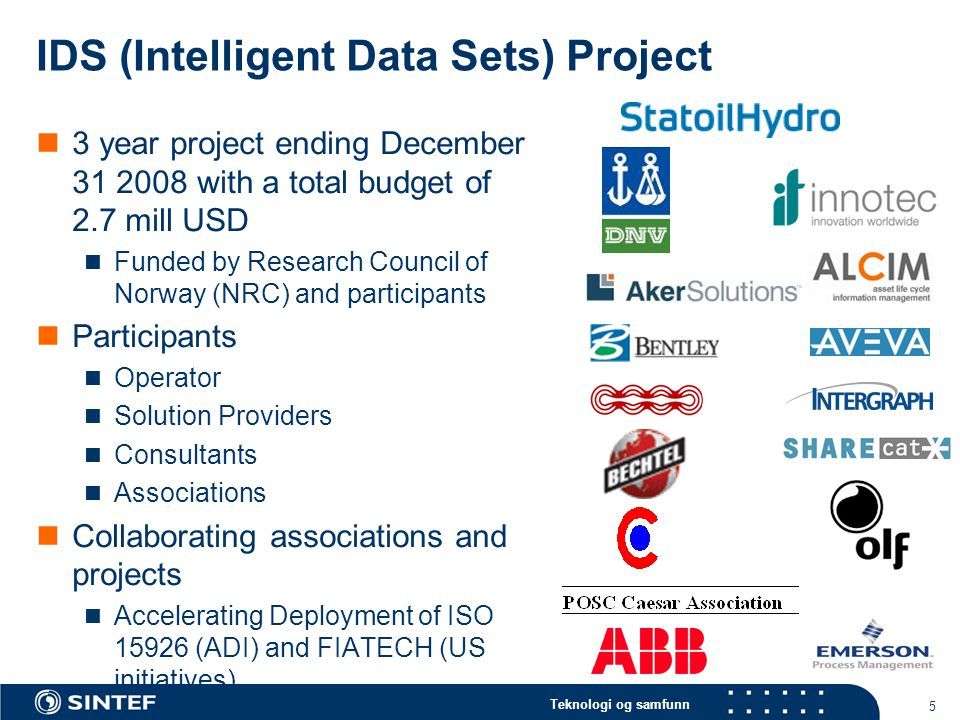 IDS (Intelligent Data Sets) Project