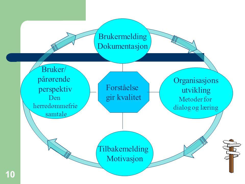 Brukermelding Dokumentasjon Bruker/ pårørende Organisasjons perspektiv