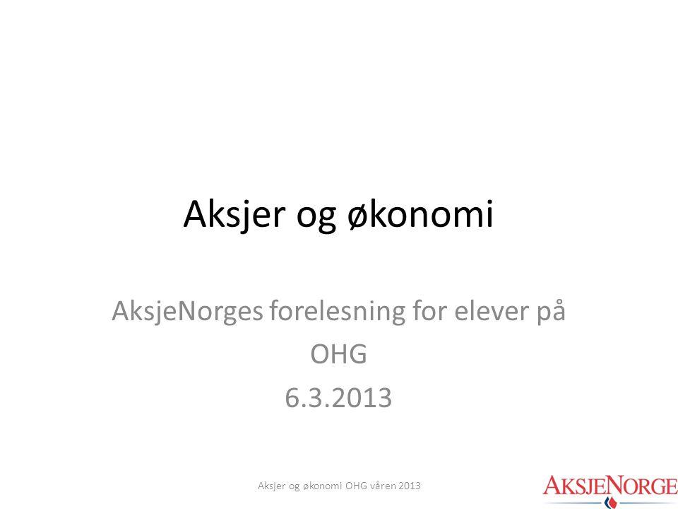 AksjeNorges forelesning for elever på OHG 6.3.2013