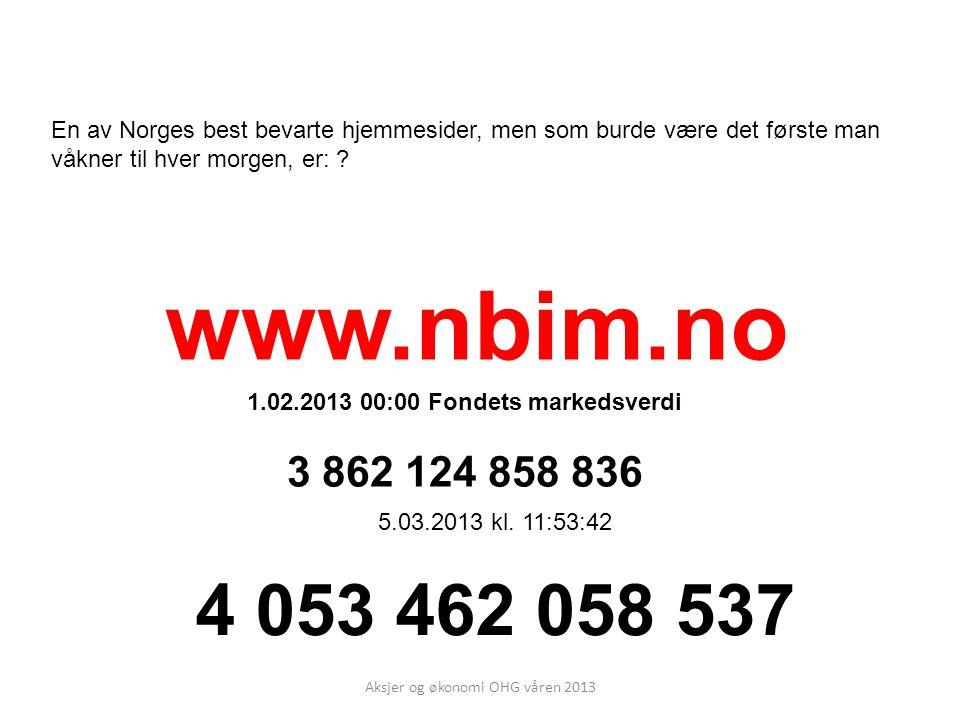 1.02.2013 00:00 Fondets markedsverdi