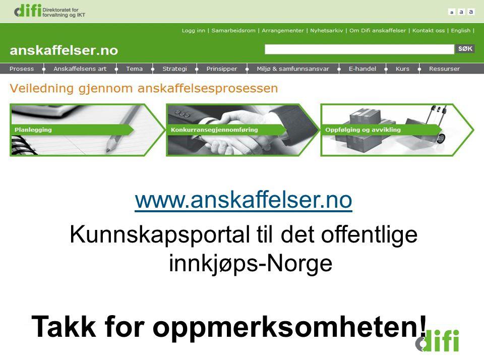 Kunnskapsportal til det offentlige innkjøps-Norge