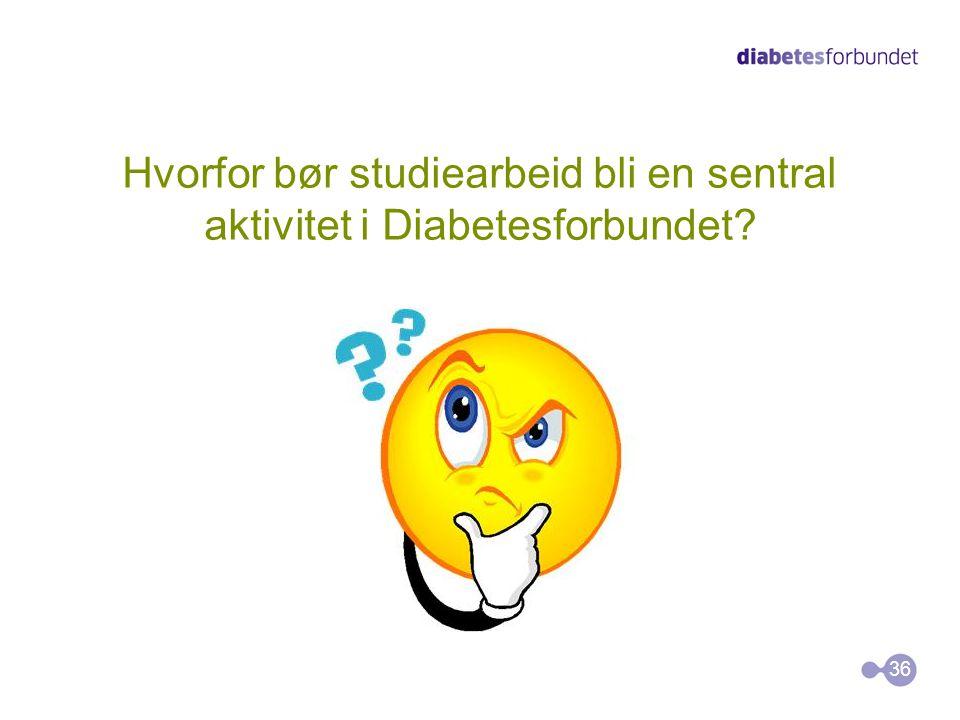 Hvorfor bør studiearbeid bli en sentral aktivitet i Diabetesforbundet