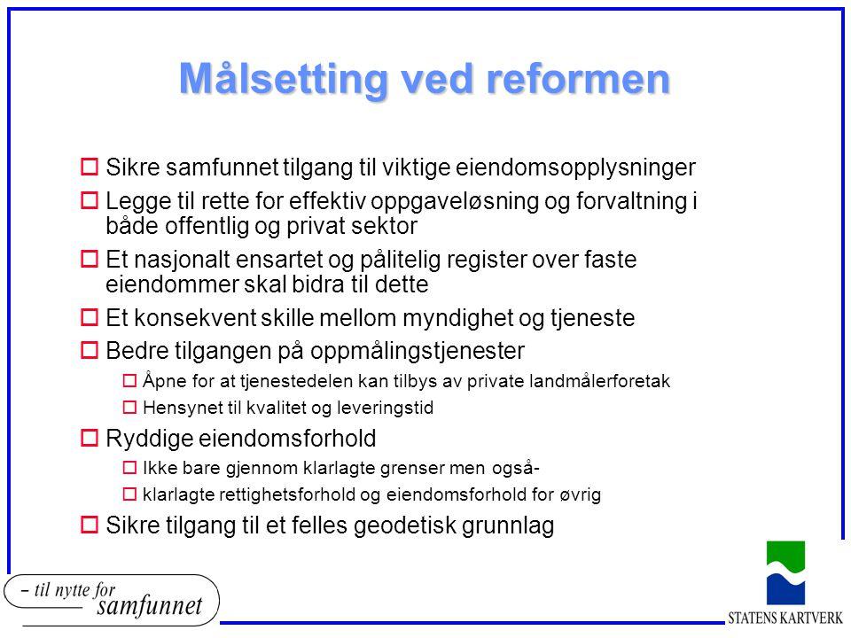 Målsetting ved reformen
