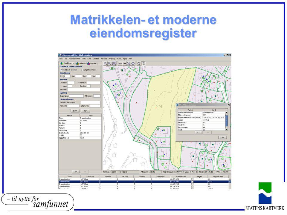 Matrikkelen- et moderne eiendomsregister