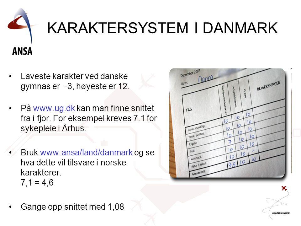 KARAKTERSYSTEM I DANMARK