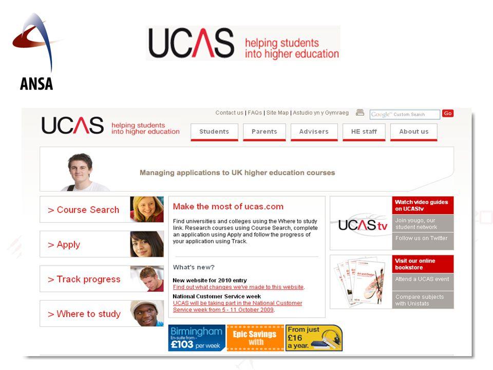 Samordna opptakskontor for bachelorgrader i Storbritannia.