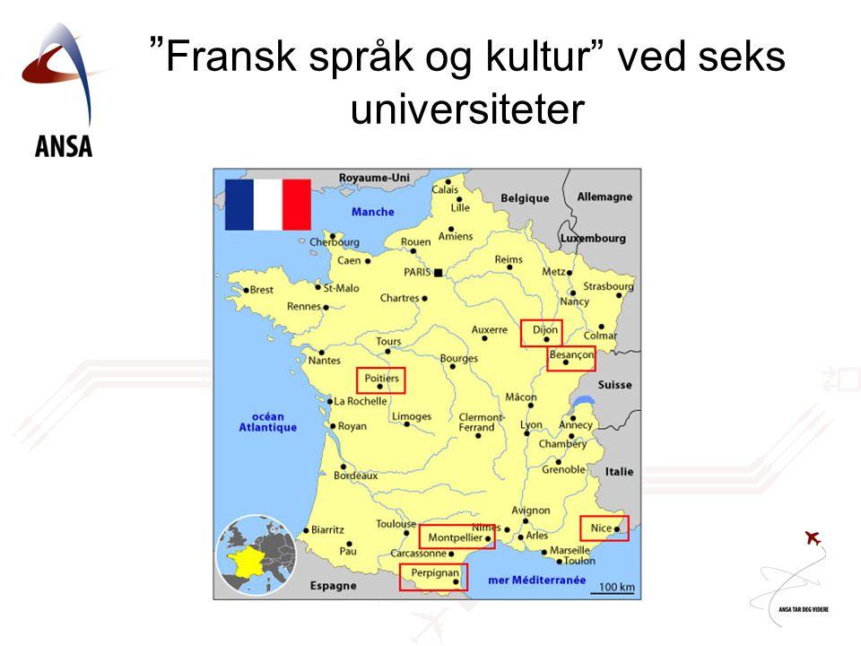 Fransk språk og kultur ved seks universiteter