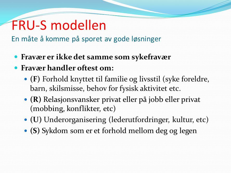 FRU-S modellen En måte å komme på sporet av gode løsninger