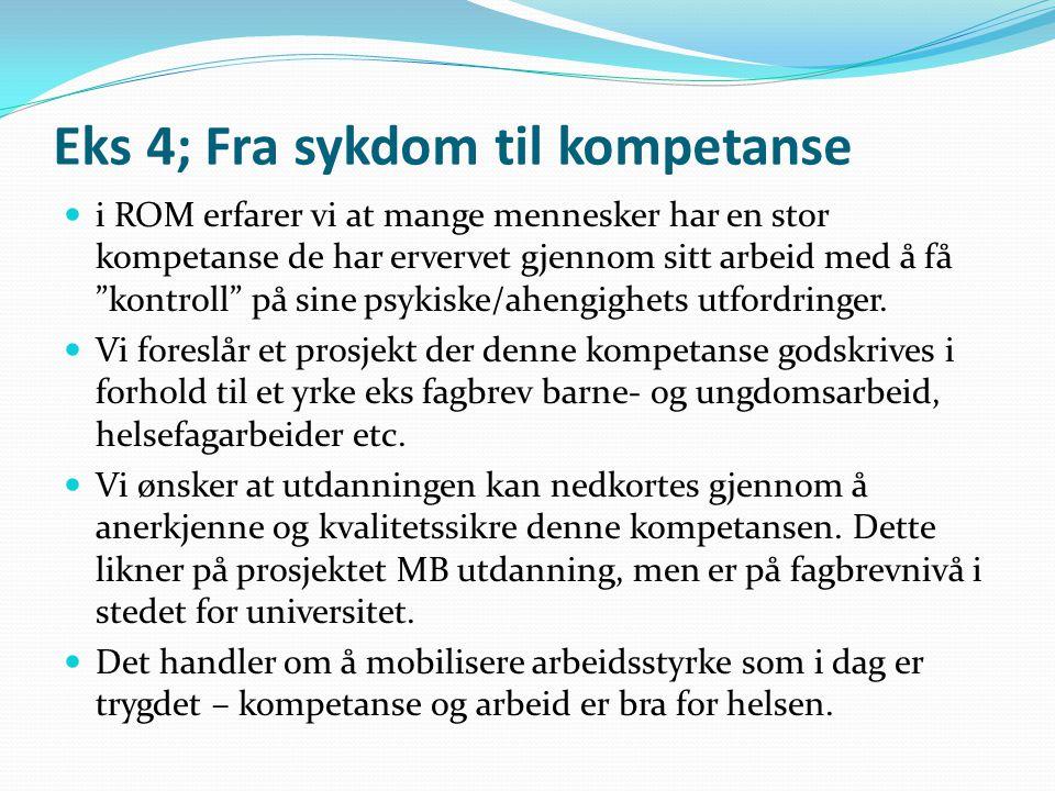 Eks 4; Fra sykdom til kompetanse