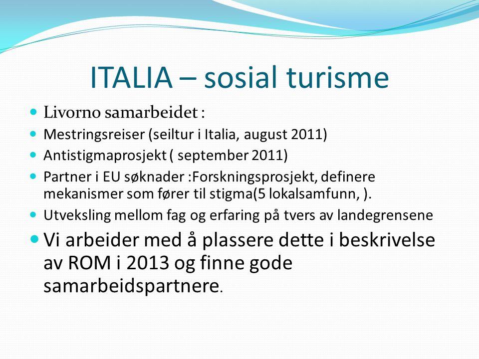 ITALIA – sosial turisme