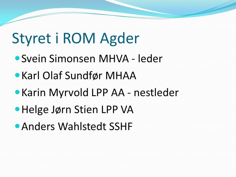 Styret i ROM Agder Svein Simonsen MHVA - leder Karl Olaf Sundfør MHAA