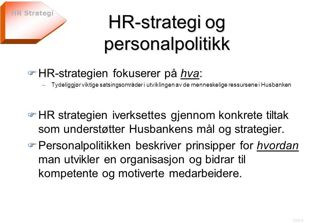 HR-strategi og personalpolitikk