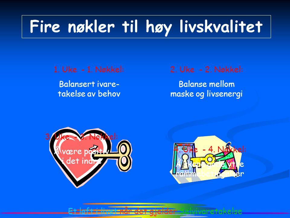 Fire nøkler til høy livskvalitet