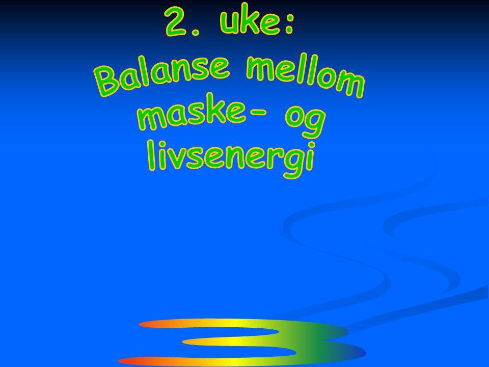 2. uke: Balanse mellom maske- og livsenergi ¾