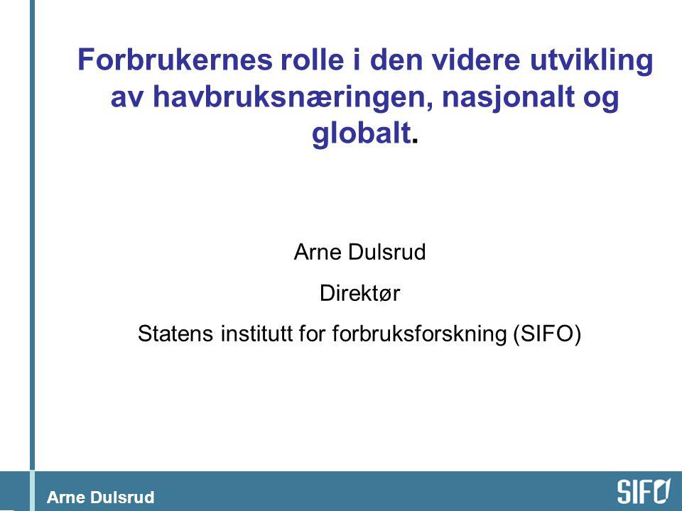 Statens institutt for forbruksforskning (SIFO)