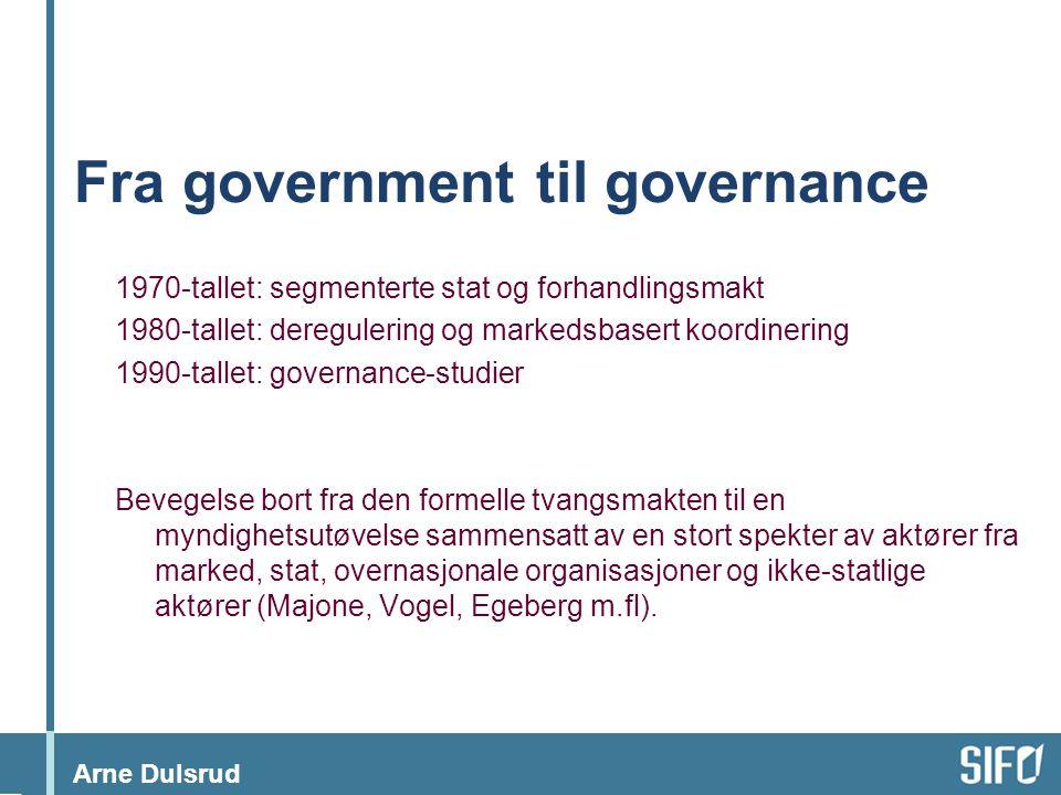 Fra government til governance
