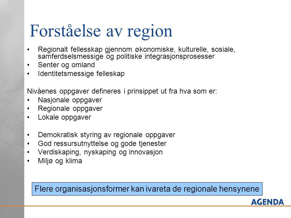 Flere organisasjonsformer kan ivareta de regionale hensynene