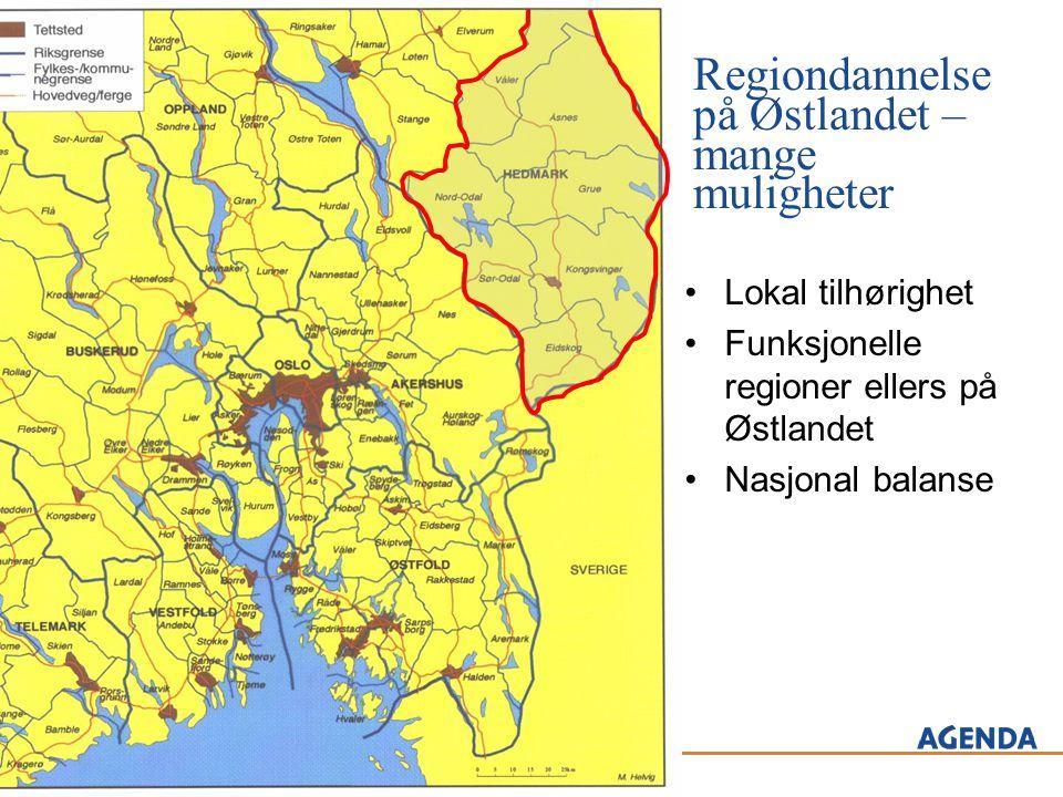 Regiondannelse på Østlandet – mange muligheter