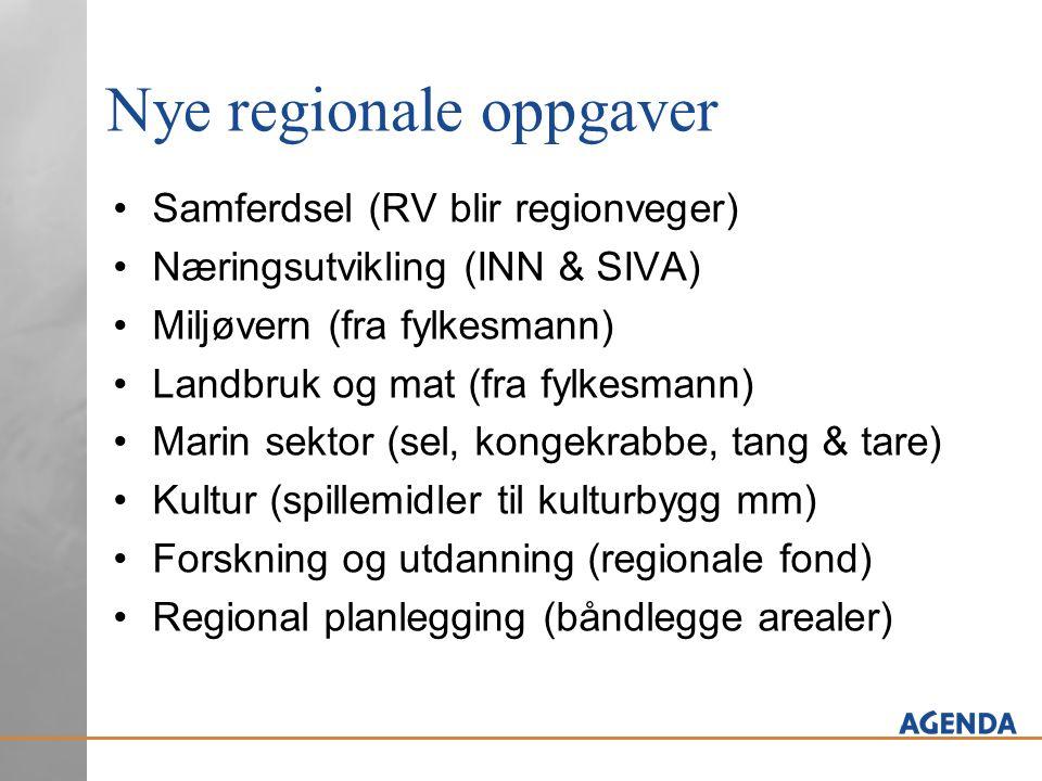 Nye regionale oppgaver