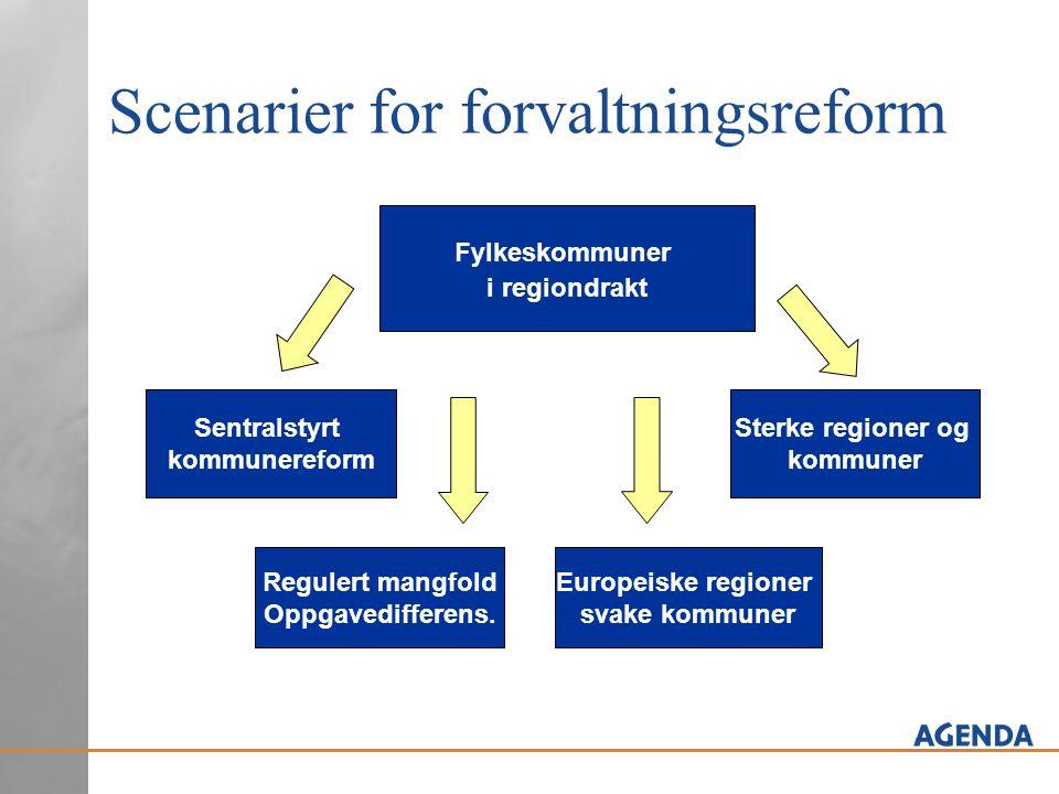Scenarier for forvaltningsreform