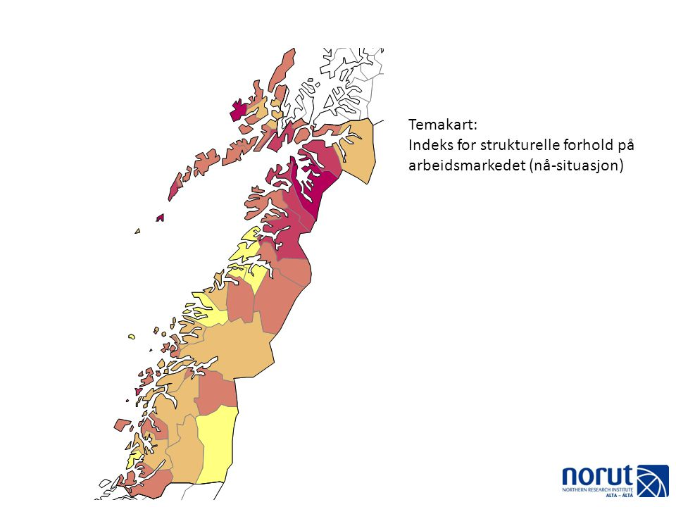Temakart: Indeks for strukturelle forhold på arbeidsmarkedet (nå-situasjon)