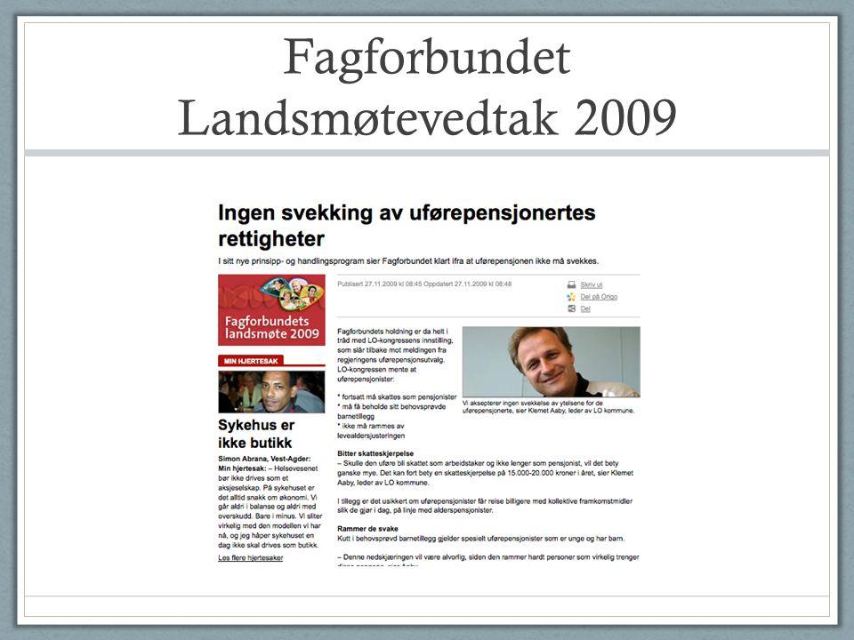 Fagforbundet Landsmøtevedtak 2009