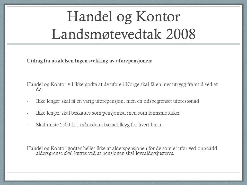 Handel og Kontor Landsmøtevedtak 2008