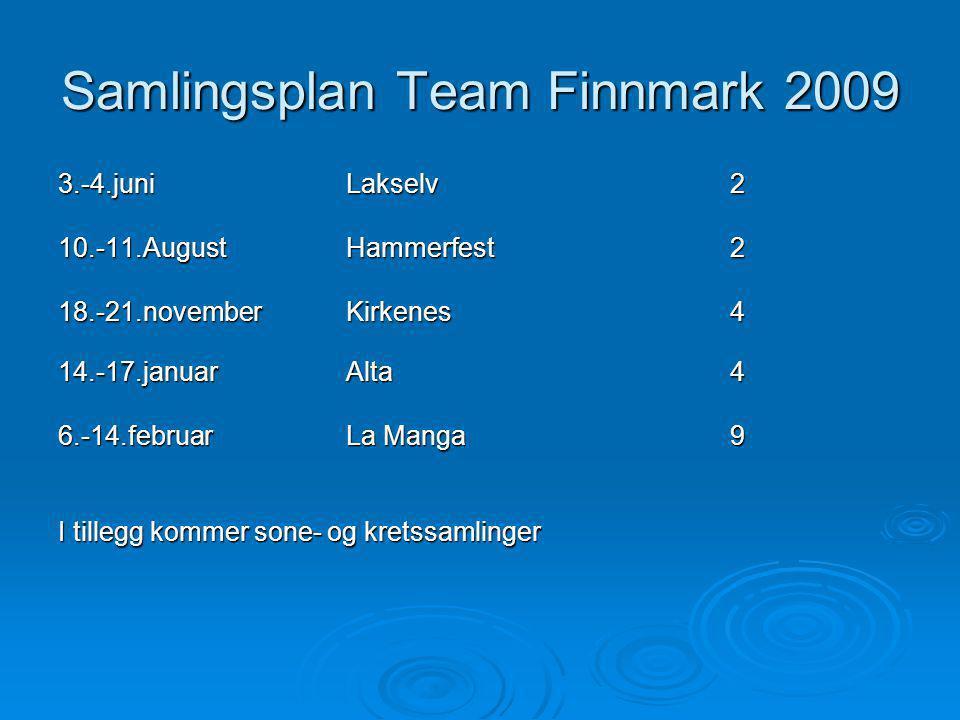 Samlingsplan Team Finnmark 2009