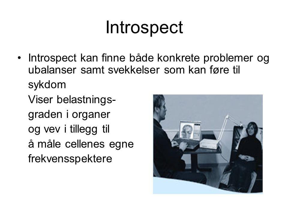 Introspect Introspect kan finne både konkrete problemer og ubalanser samt svekkelser som kan føre til.
