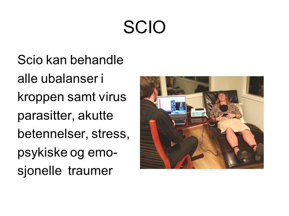 SCIO Scio kan behandle alle ubalanser i kroppen samt virus