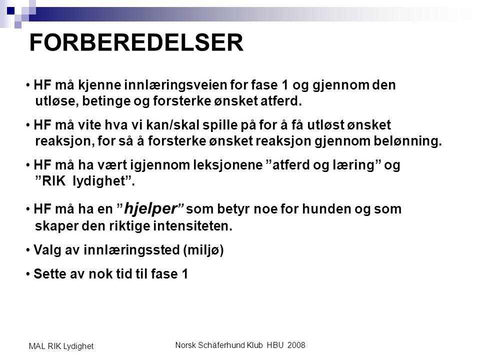 Norsk Schäferhund Klub HBU 2008