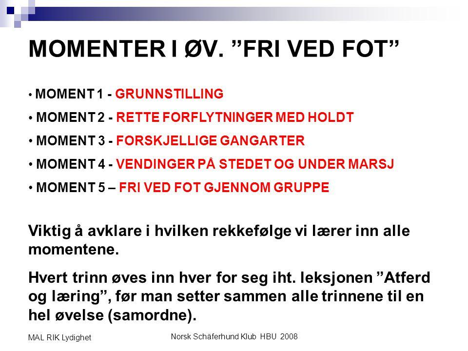 MOMENTER I ØV. FRI VED FOT