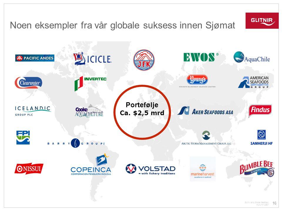 Noen eksempler fra vår globale suksess innen Sjømat