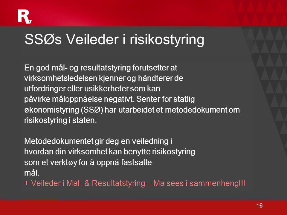 SSØs Veileder i risikostyring
