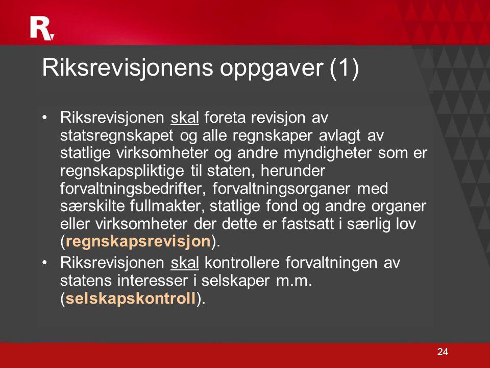 Riksrevisjonens oppgaver (1)