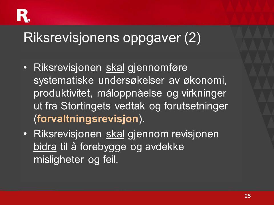 Riksrevisjonens oppgaver (2)