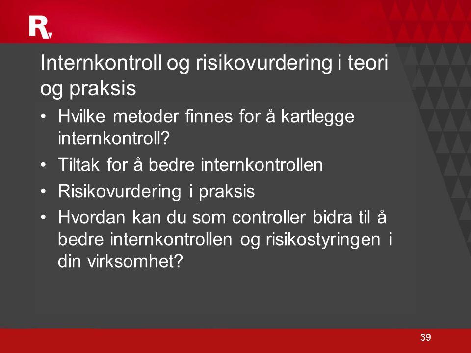 Internkontroll og risikovurdering i teori og praksis