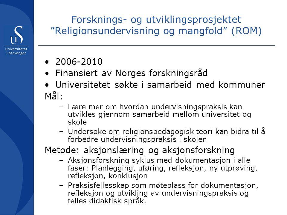 Forsknings- og utviklingsprosjektet Religionsundervisning og mangfold (ROM)