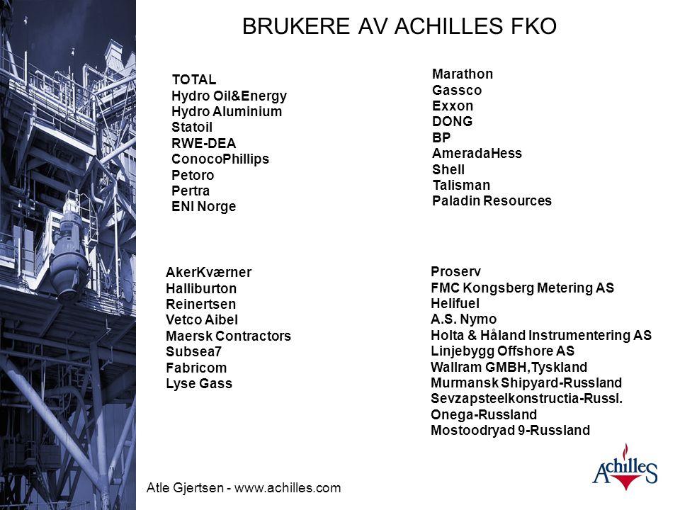 BRUKERE AV ACHILLES FKO