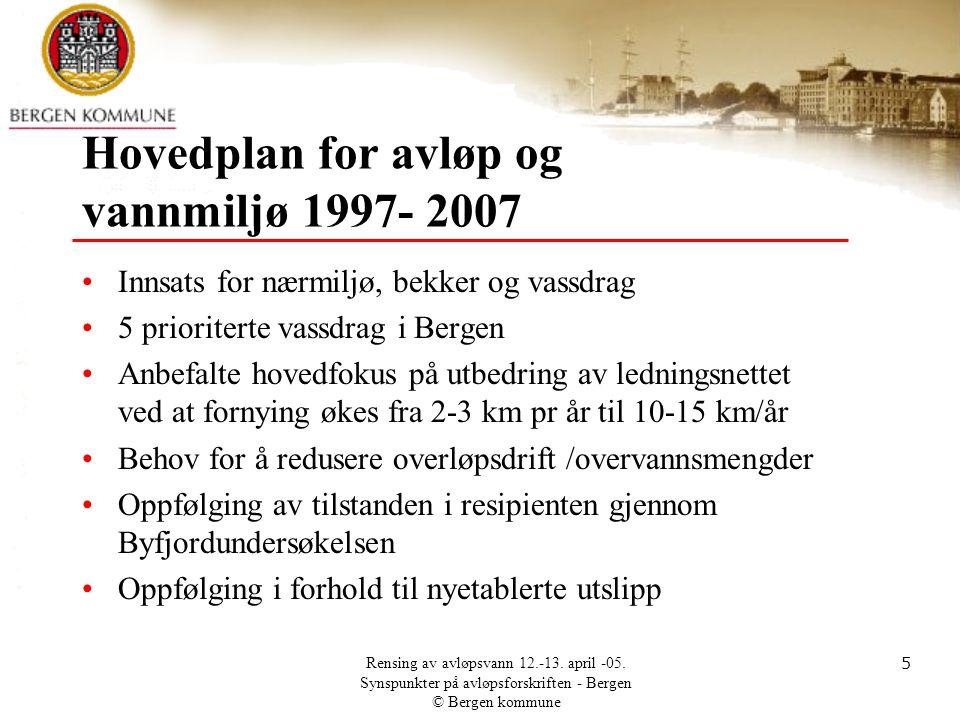 Hovedplan for avløp og vannmiljø 1997- 2007
