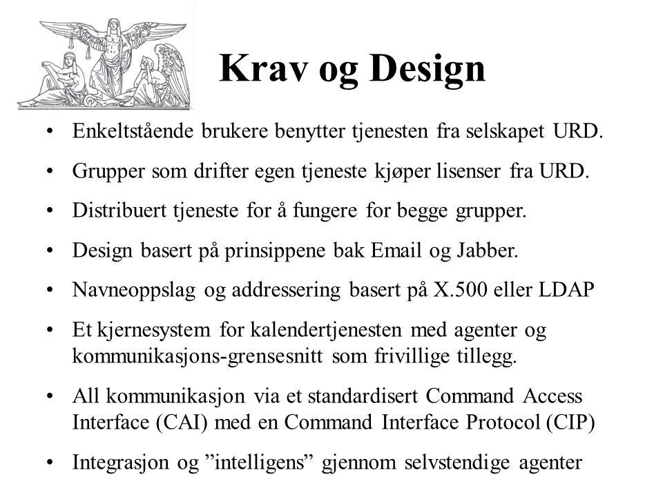 Krav og Design Enkeltstående brukere benytter tjenesten fra selskapet URD. Grupper som drifter egen tjeneste kjøper lisenser fra URD.