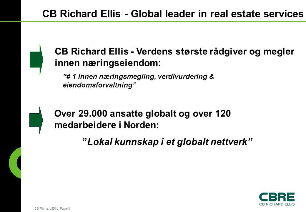 CB Richard Ellis - Global leader in real estate services