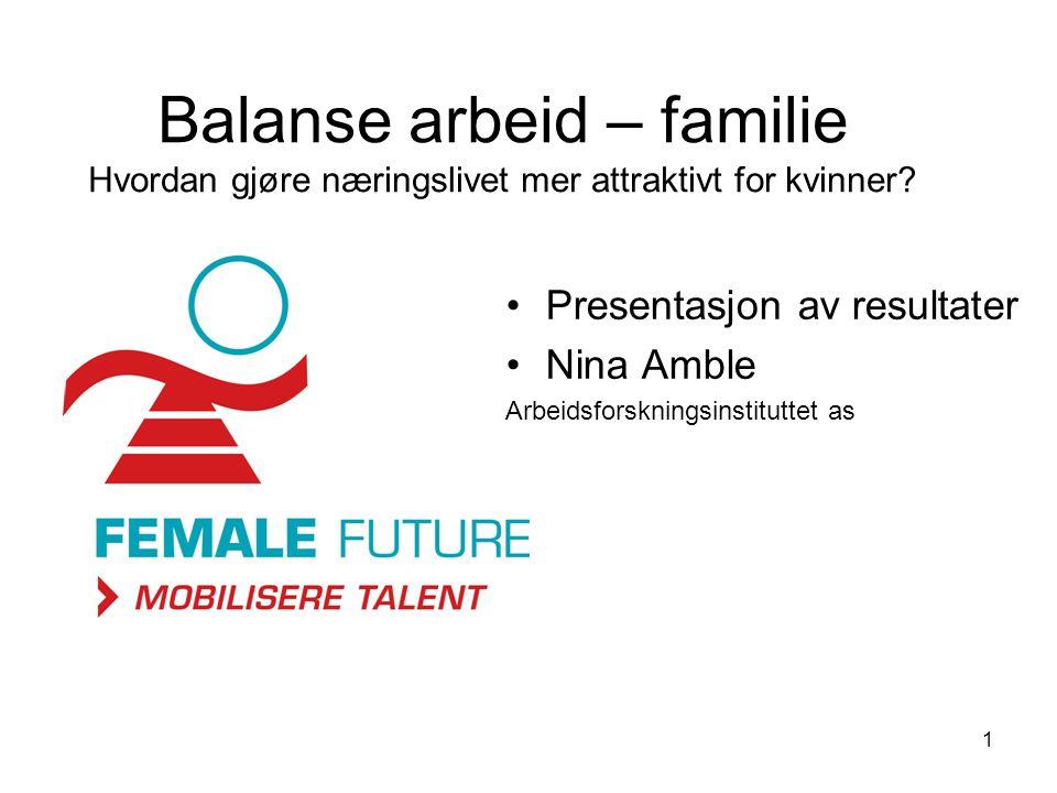Balanse arbeid – familie Hvordan gjøre næringslivet mer attraktivt for kvinner