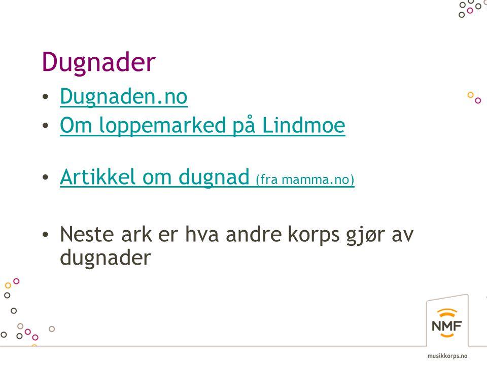 Dugnader Dugnaden.no Om loppemarked på Lindmoe