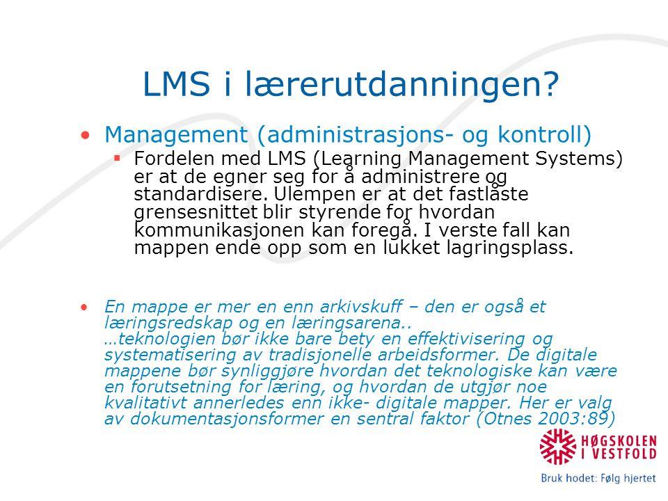 LMS i lærerutdanningen