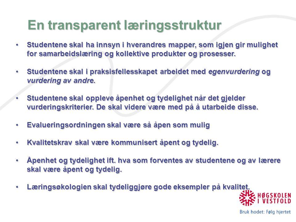 En transparent læringsstruktur