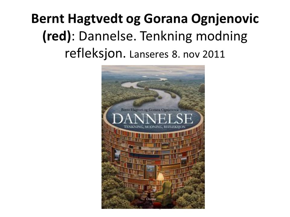 Bernt Hagtvedt og Gorana Ognjenovic (red): Dannelse
