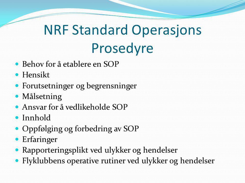 NRF Standard Operasjons Prosedyre