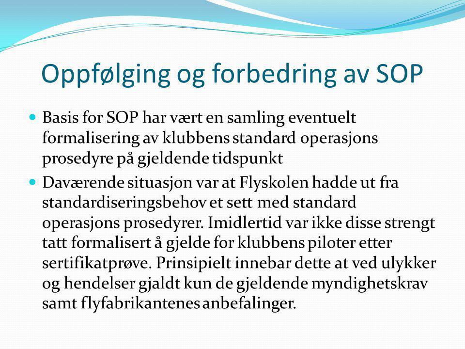 Oppfølging og forbedring av SOP